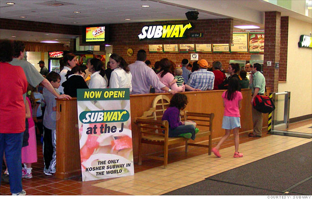 Restaurante Subway en Centro